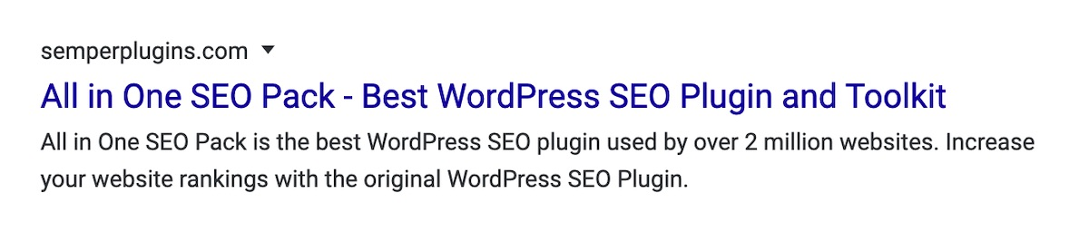 Search Result for All in One SEO