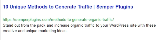 This is how an ideal Google Snippet should look like.