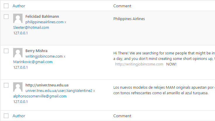 Nowadays every site is the target of comment spam, Semperplugins.com is no exception to that rule.