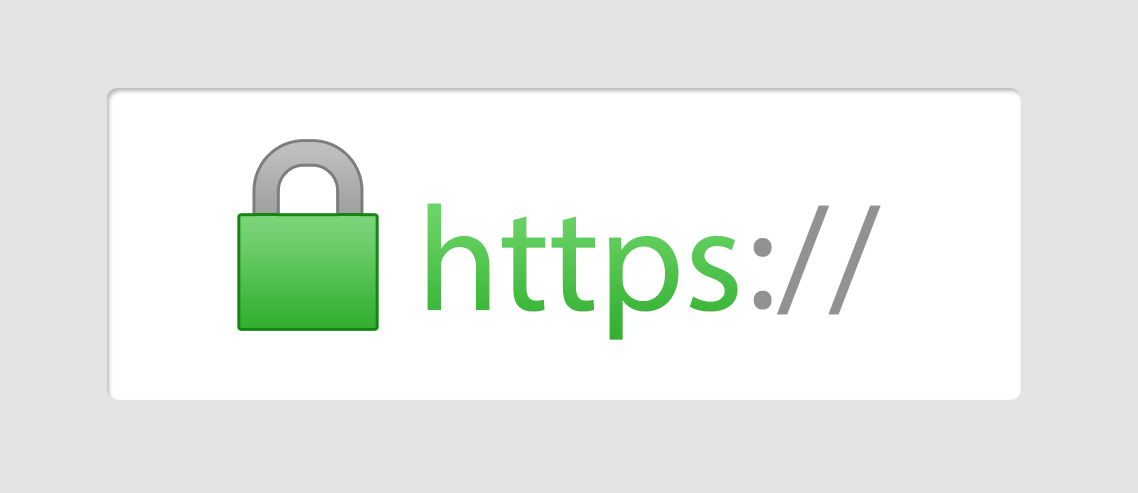 Chrome will display a green padlock in the link bar when a site is using HTTPS, assuring users it's using the latest security protocol.