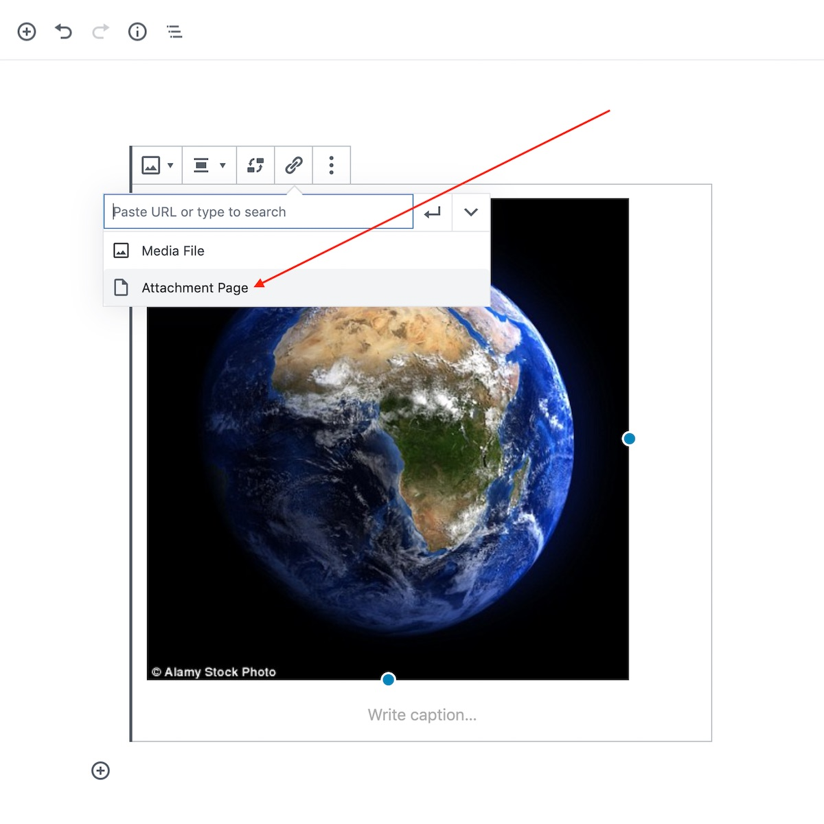 Linking to an Attachment Page in the Block Editor