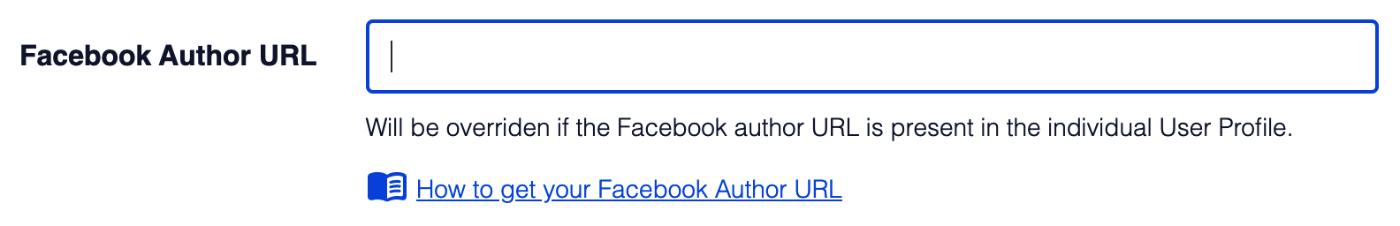 Facebook Author URL setting in Facebook Advanced Settings