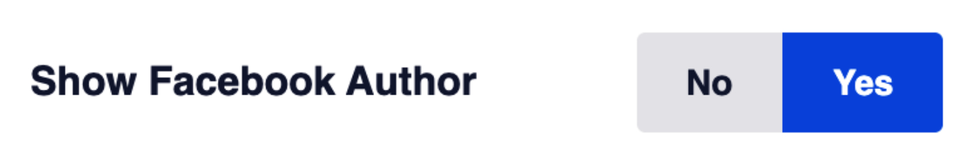 Show Facebook Author setting in General Facebook Settings