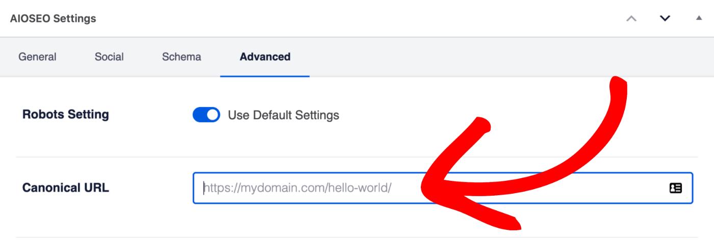 Custom Canonical URL setting on the Edit Post screen