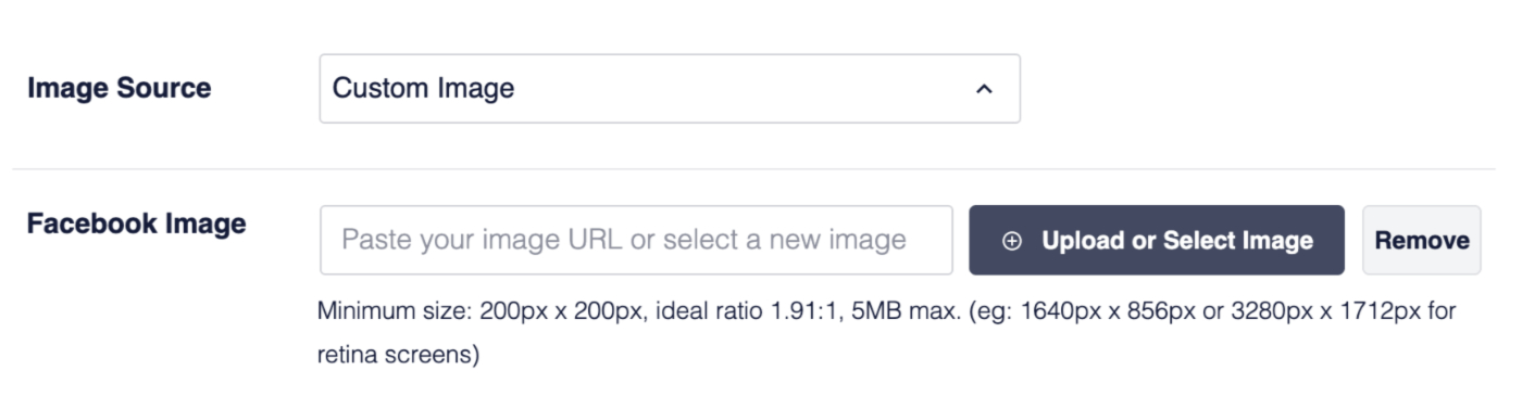 Setting the Image Source and Facebook Image