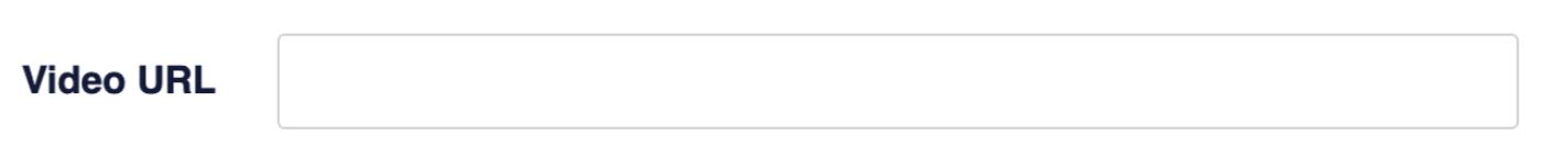 Settings a video URL