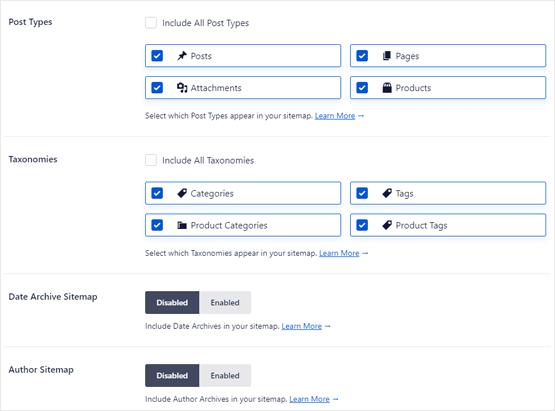 WooCommerce sitemap integration