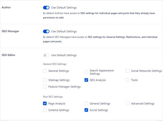 WordPress custom user roles for SEO