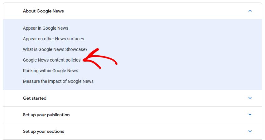 Google News content policies