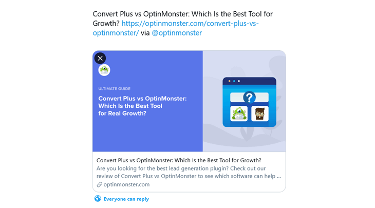 Example of Twitter Card in All in One SEO