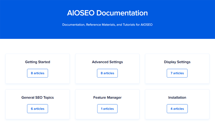 AIOSEO documentation and tutorials