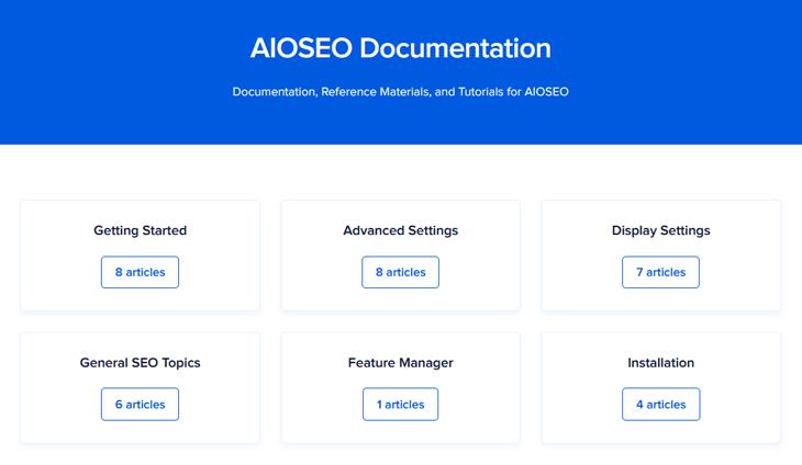 Документация и учебные пособия AIOSEO