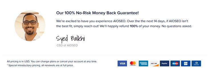 100% гарантия возврата денег без риска для всех в одном SEO