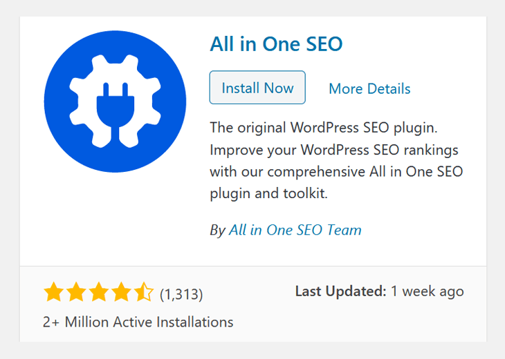 The best WordPress SEO plugin All in One SEO