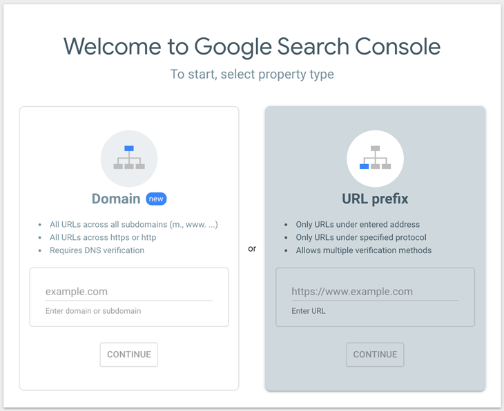Welcome to Google Search Console page