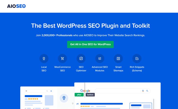 O melhor plugin de SEO para WordPress, All in One SEO