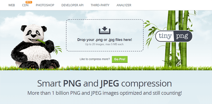 Compress your images using TinyPNG