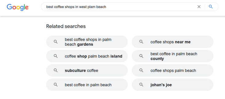 How to find related keywords in WordPress - do a Google search