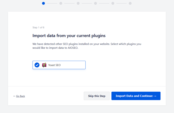 importing seo data from yoast to all in one seo