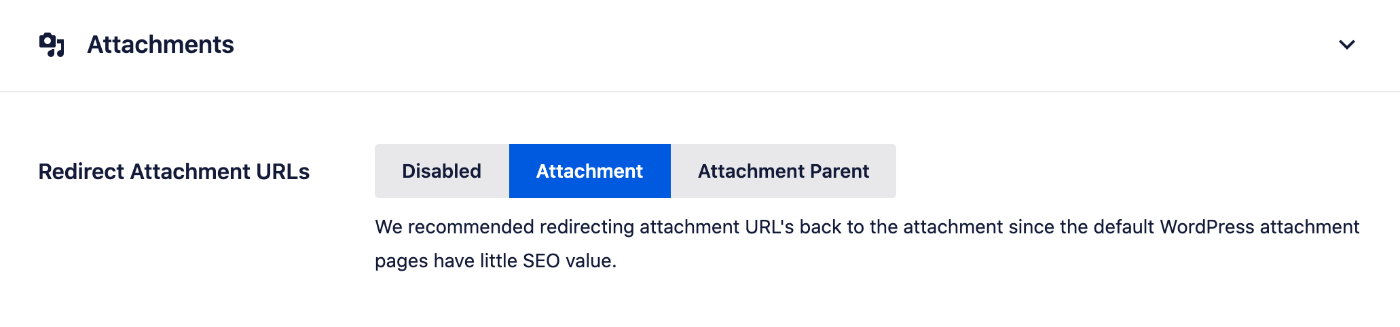 Redirect Attachment URLs to the Attachment Itself on the Media tab of Search Appearance