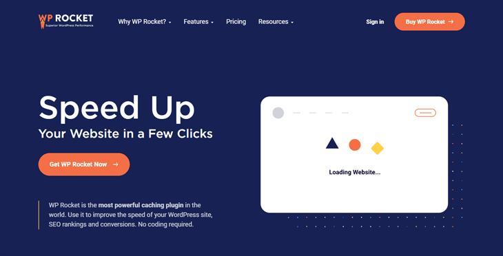 WP Rocket cache plugin for WordPress