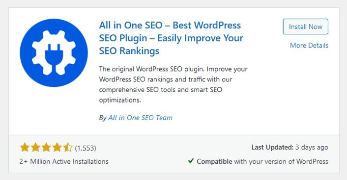 The best WordPress SEO plugin All in One SEO