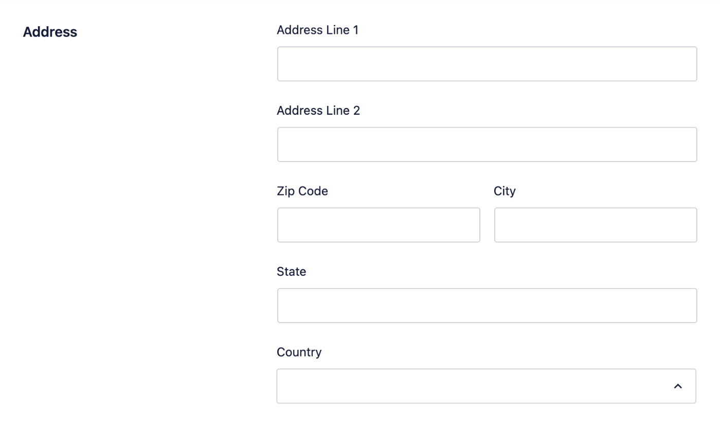 Enter your address in the Address fields