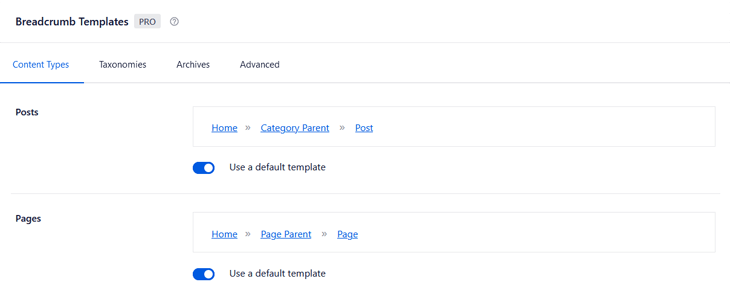 Breadcrumb templates in All in One SEO
