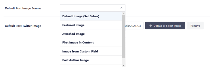 Setting the default Twitter image source in All in One SEO