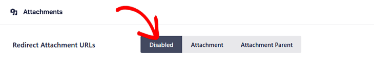 Show attachment pages in search results setting in All in One SEO