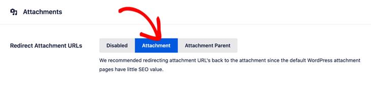 Redirect attachment URLs back to attachment in All in One SEO