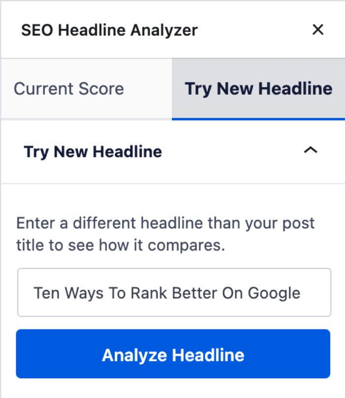 Try New Headline Tab in Headline Analyzer