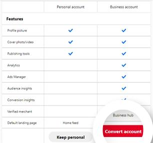 Click Convert Account Button