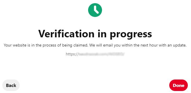 Verification in Progress