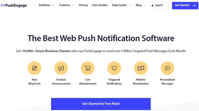 PushEngage - Best Push Notifications Software