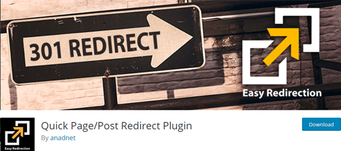 Quick post and page redirect plugin